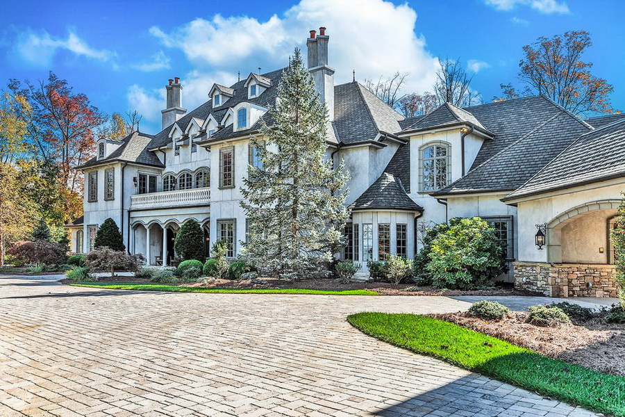 Luxury French Style Architecture Home With Stunning Architectural ...