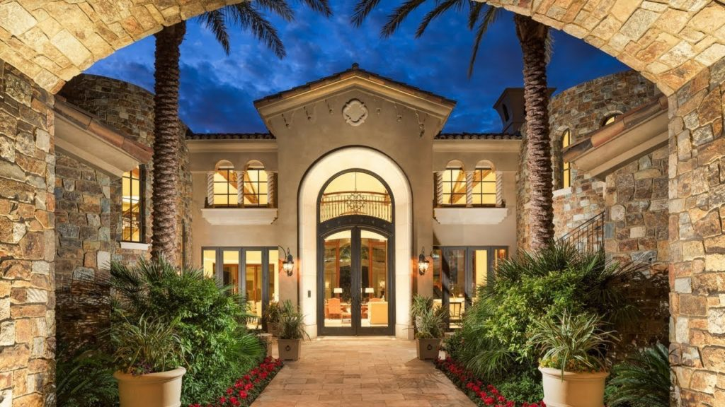 Outstanding Mediterranean Inspired Mansion Epitomizes the Very Best in a Desert Estate Luxury Homes Tours VIDEOS