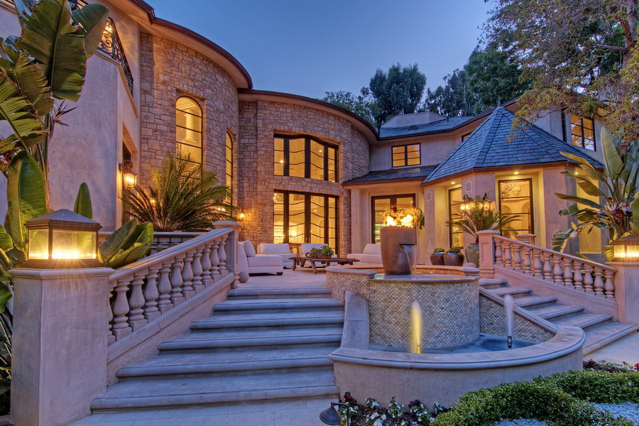This world class french style bel air mansion is an for Luxury french real estate