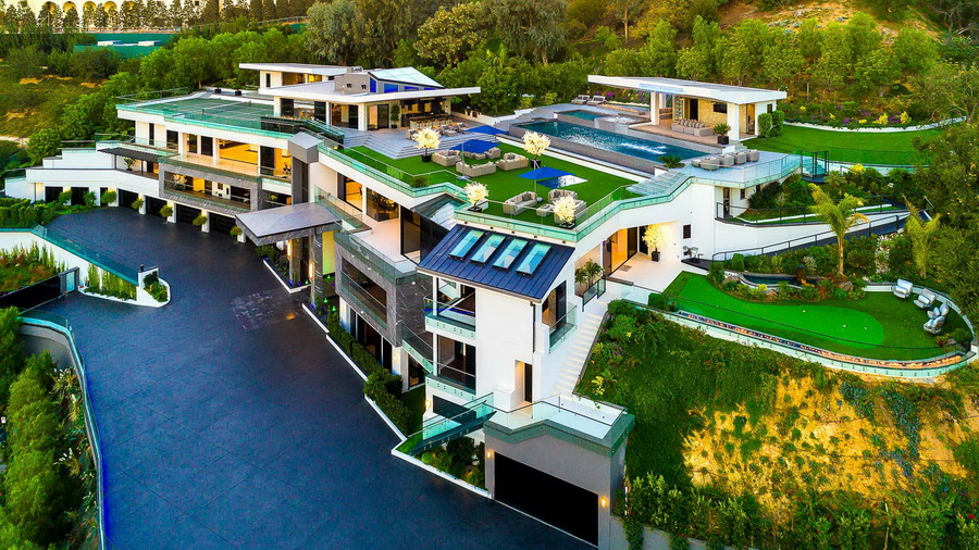 100 Million Mansion In Bel Air Los Angeles Gets 10 Price Cut