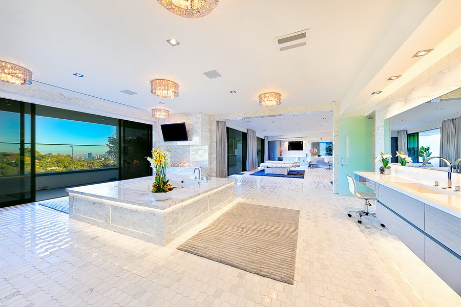 Luxury Motor Club >> $100,000,000 Modern Contemporary Bel Air Mega Mansion ...
