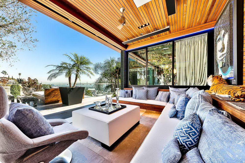 Extravagant hollywood hills modern home offers panoramic - Architecture interieurs contemporains sunset strip ...